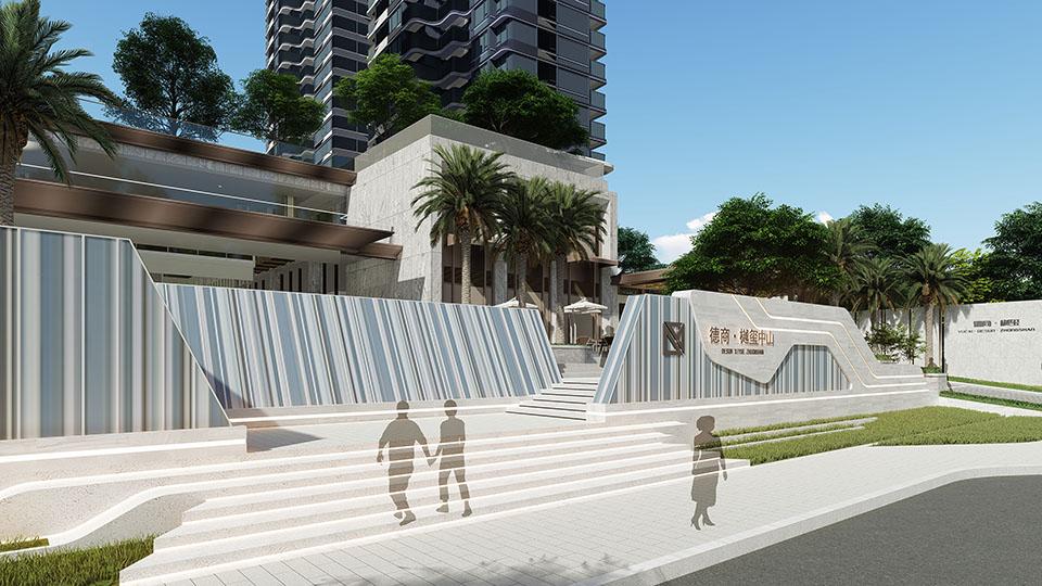 中山德商樾玺住宅景观设计 | ROOT路特景观